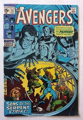 The Avengers 73 Silver Age 1970 FN+/VFN- Condition