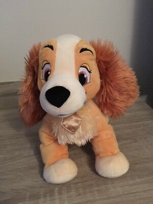 """Disney Store Exclusive Lady And The Tramp Soft Toy Dog 12"""" Stamped Teddy Plush"""