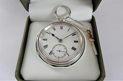 1923 Silver Cased English Lever Pocket Watch In Working Order