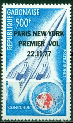 Gabon Scott #C198 MNH OVPT First Concorde Flight Paris to New York CV$9+