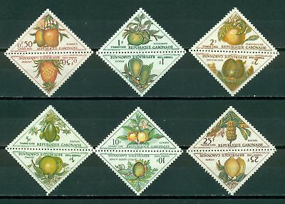 Gabon Scott #J35a-J45s MNH PAIRS Fruits Trees Flora CV$9+