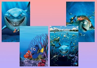 Disney  Finding Nemo, Marlin, Dory, Bruce A5 A4 A3 Textless Movie Posters