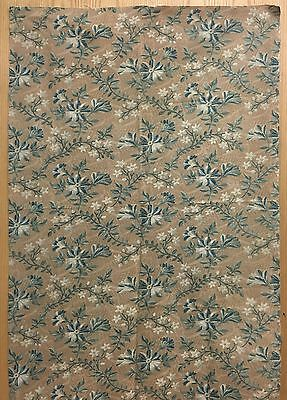 Lovely 19th Century French Printed Cotton Floral Fabric (2098)