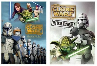 Star Wars:The Clone Wars Season 1-6 Complete Series1-5+Season 6 Lost Mission DVD