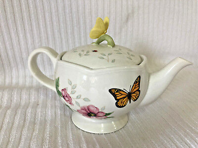 Butterfly Meadow Lenox China 2 Cup Teapot
