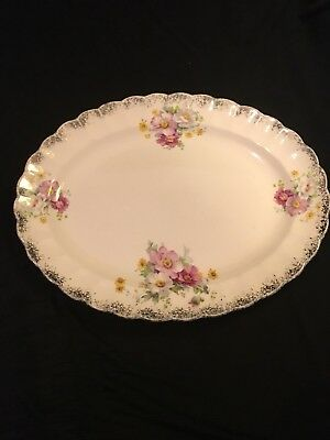1920's Ivory Porcelain By Sebring Serving Dish/ Plate
