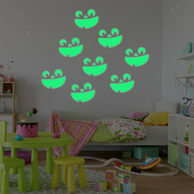 Luminous Wall Sticker Glow In The Dark Spider Smile Decal Kids Room Decor