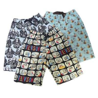 New Mens 100 % Cotton Pj Pant Sleep Boxer Short Pants Size S,m,l,xl