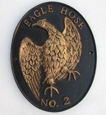 FIRE DEPARTMENT: Eagle (INA) Hose No. 2  Iron Mark/ Plaque - SIGN/ MARKER