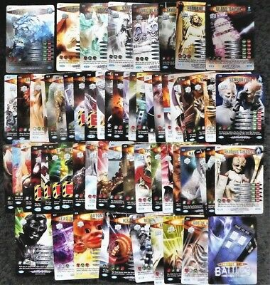 Lot of 60+ Doctor Who Ultimate Monsters Common, Rare, Super Rare Trading Cards