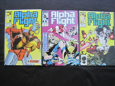 ALPHA FLIGHT Vol 1 : 51,52,53, COMPLETE 3 ISSUE JIM LEE STORY.1987, MARVEL