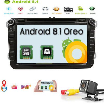 "8"" Android 8.1 Autoradio DVD Player Octa Kern für VW SKODA SEAT 4KVideo DAB+ OBD"