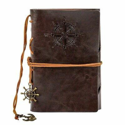 Leather Pocket Diary Journal Book Notebook Notepad Memo Vintage Blank Refillable