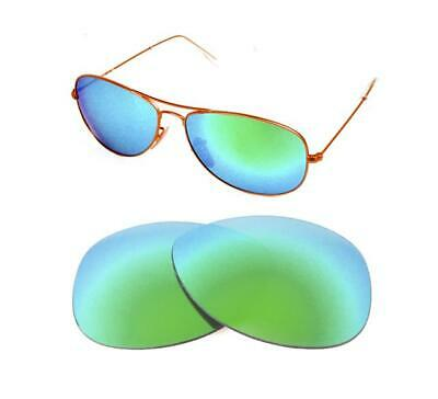 1b4c82b8ce NEW POLARIZED CUSTOM GREEN LENS FIT RAY BAN RB3362 COCKPIT 59mm SUNGLASSES