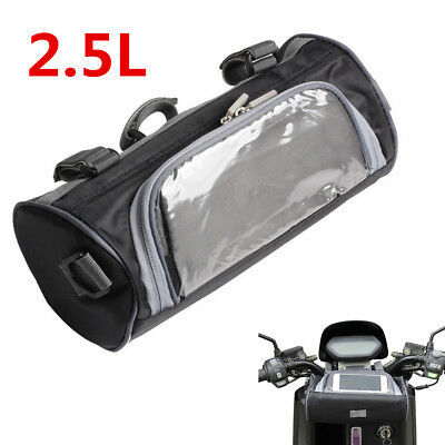 Universal 2.5L Motorcycle Windshield Bag Front Handlebar Fork Storage Container