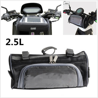 2.5L Motorcycle Windshield Bag Front Handlebar Fork Storage Container Waterproof