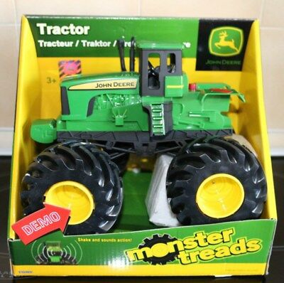 Tomy John Deere Monster Treads with shake & sound Action Tractor ~New~