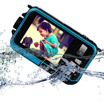 2.7inch Digital Camera Waterproof 24MP 1080P Double Screen Under Water Camcorder