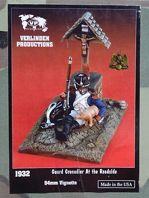 VERLINDEN PRODUCTIONS #1932 Guard Grenadier at the Roadside Figur w/Base in 1:32