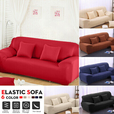 3 Seater Stretch Elastic Fabric Sofa Cover Slipcover Couch Spandex Slipcover