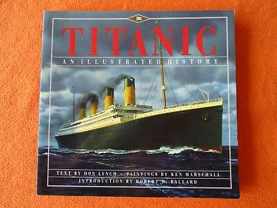 """""""Titanic , Illustrated History"""" -Wreckage Photos, Diagrams, 32"""" Panorama of Ship"""