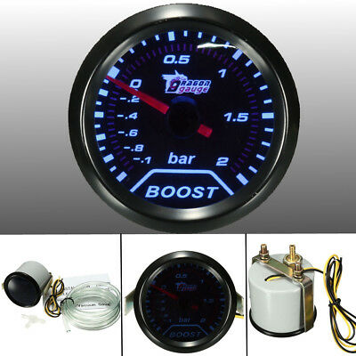 2'' 52mm Universel LED Jauge Boost Compteur Turbo Vacuum Pression Manomètre Auto