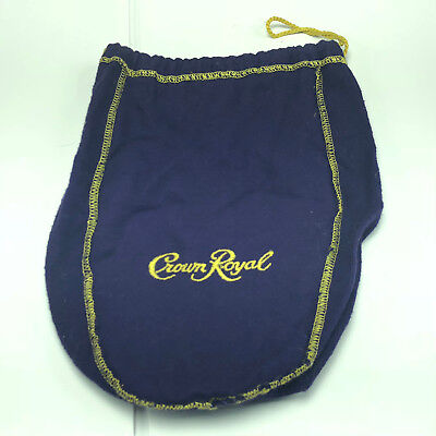 CROWN ROYAL BAG gold draw string felt velvet canadian whiskey bottle warm purple
