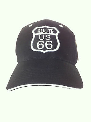 Casquettes style base-ball brodées route US 66 forme écusson neuf