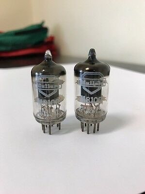 M8100 Cv4010 5654 Mullard Vintage Matched Pair Valve/Tube- Ring Getter