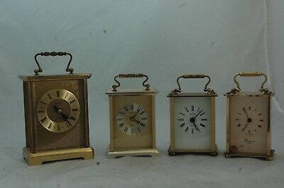 Collection Of 4 Carriage Clocks To Restore,h.samuel Etc.