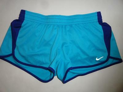 NIKE DRI FIT Medium Tempo Lined Athletic Shorts Womens Blue Running Crossfit