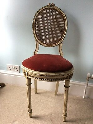 Pretty Antique French Bergere Bedroom Chair