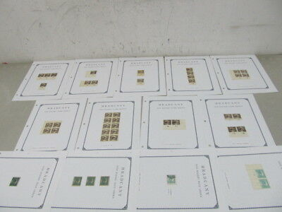 Nystamps Czechoslovakia First issue stamp & block collection album page w better