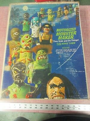 Topper Motorized Monster Maker parts in Box with Instructions