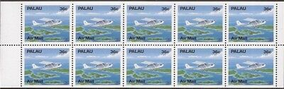 Palau - 1989 Cessna 207 Airplane - Booklet Pane of 10 Stamps #C18a