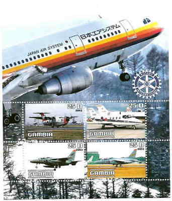 Aircraft on Stamps - 4 Stamp Sheet 9703