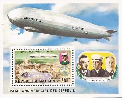 Malagasy - 1976 Zeppelin Over St Peter's Cathedral - s/s #C160