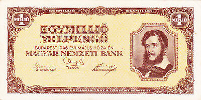 1000 000 Milpengo From Hungary 1946 Vf+ Banknote!pick-128