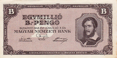 1000 000 Bilpengo From Hungary 1946 Vf+ Banknote!pick-134