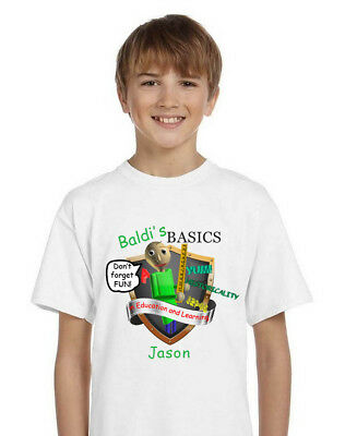 Baldi's Basics 2 Shield T-Shirt - Personalized with your child's name