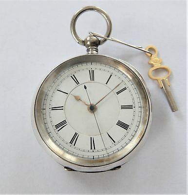 1890 Silver Cased 3/4 Plate Fusee Centre Second Pocket Watch C Arden Liverpool