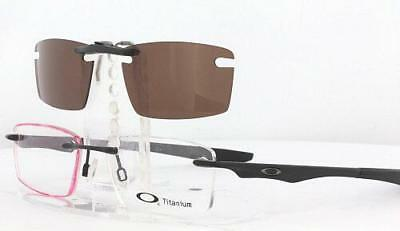 5f140f9574 CUSTOM FIT POLARIZED CLIP-ON Sunglasses For OAKLEY OX8121 53x17 T ...