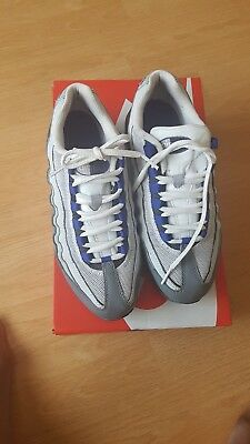 Nike Air Max 95 Trainers Uk Size 5 Boys Girls Junior Womens Grey Blue Black 282178505