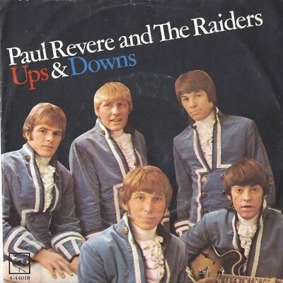 PAUL REVERE & THE RAIDERS Ups and Downs / Leslie 45 RECORD WITH RARE PIC SLEEVE