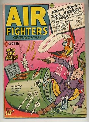 Air Fighters Comics V.2 #1 (1943) Very Good Minus (3.5) Classic Nazi War Cover