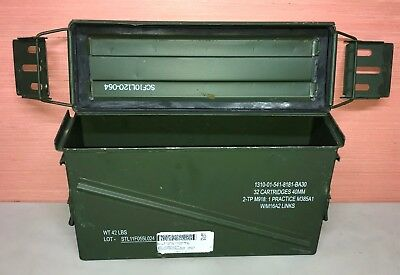 US Military Issue PA120 OD 40MM Ammunition Ammo Can Metal Storage Box Prepper