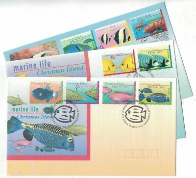 1995 Christmas Island Fish SG 412/20 Set 9 FDC or FU