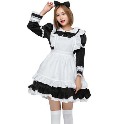 US Fancy Japanese Anime Girls Dress Cosplay Costume Maid Lolita Adult Uniform