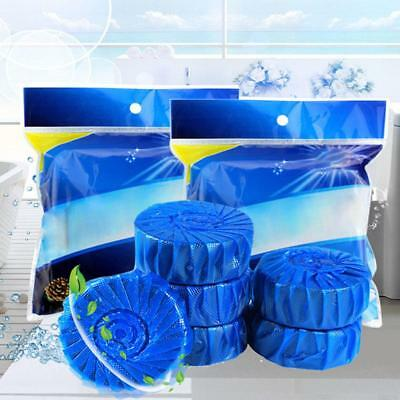 10 Pcs Automatic Bleach Toilet Bowl Tank Cleaner Blue Tablets Flush Cleaner
