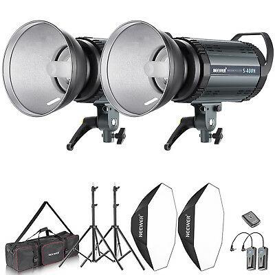 Neewer Kit de 800W (2*400w) Flash Estrocópico y Softbox Reflector